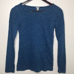 J. Crew Blue Painter Long Sleeve Tee SzXS